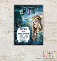 Sleeping Beauty Invitation, Sleeping Beauty Birthday, Maleficent Invitation, Sleeping Beauty Birthday Invitation, Princess Aurora