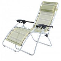 Chaise longue de camping Gelert Mapleton Deluxe Verte