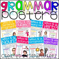 These grammar posters give a clear definition and examples for your students.