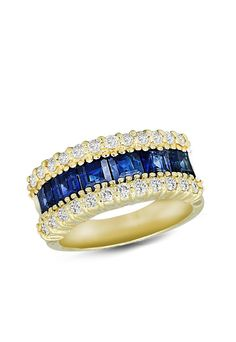 Gemma Blue Sapphire and Diamond Ring, 2.79 TCW gorgeous,!!!