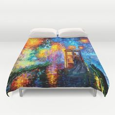 The+10th+Doctor+who+Starry+the+night+Art+painting+Duvet+Cover+by+Three+Second+-+$99.00