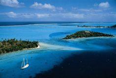Bora Bora, Sailing in French Polynesia