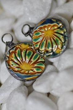 jewelry ceramic earrings ceramic unique earrings  by zolanna