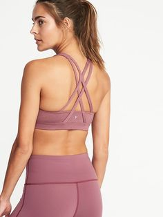 585ac66ce2 Medium Support Strappy Sports Bra for Women. Old Navy