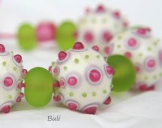Handmade Lampwork Glass Beads Sets by 'BuliGlassBead's on Etsy❁≻⊰❤⊱≺❁