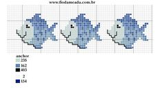 Ideal for a towel border Tiny Cross Stitch, Beaded Cross Stitch, Cross Stitch Borders, Cross Stitch Animals, Cross Stitch Charts, Cross Stitch Designs, Cross Stitching, Cross Stitch Embroidery, Cross Stitch Patterns