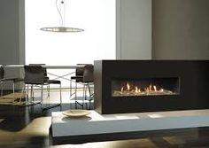 Resultado de imagen para modern fireplace steel plaque