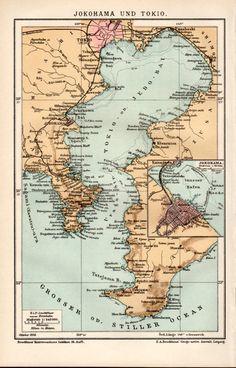 Antwerp Belgium Antique Map Flanders Anvers By Craftissimo - Japan map yokohama tokyo