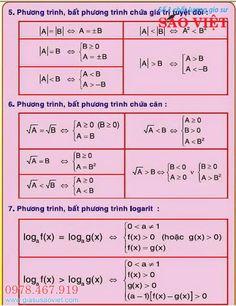 Phương trình, bất phương trình chứa giá trị tuyệt đối, chứa căn thức và logarit Gcse Math, Maths, Math Notes, A30, Photoshop Design, Secondary School, School Hacks, School Humor, English Words