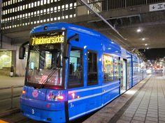 Tranvía en Estocolmo, Suecia.
