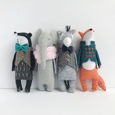 Badger Toy In Waistcoat, Badger Stuffed Animal, Felt Animal Toy, Woodland Softie… - Stofftier Softies, Plushies, Fox Stuffed Animal, Stuffed Fox, Felt Stuffed Animals, Pet Organization, Fox Toys, Felt Fox, Little Doll