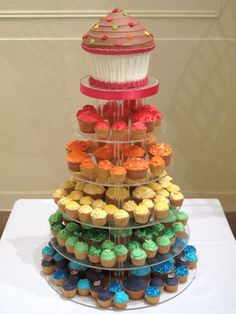 Crumbs and Doilies cupcakes - Wedding Gallery < Rainbow colours.