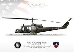 """Heavy Hog"" s/n 'Bandit Assault Helicopter Company Flight Platoon ""Bandits""Bien Hoa Air Base, Vietnam. Little Bird Helicopter, Military Helicopter, Military Aircraft, Military Photos, Military History, Aircraft Painting, Military Equipment, Nose Art, War Machine"