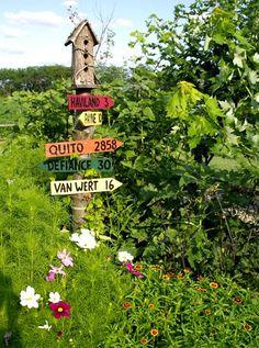 Birdhouse-bird buddies need to know how far to next stop.