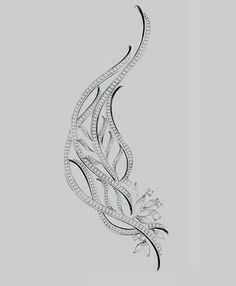 Feather brooch sketch...♡