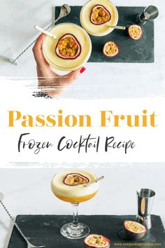 Frozen Passion Fruit Daiquiri Recipe, this easy refreshing summer cocktail is perfect for a simple but show stopping cocktail. #extraordinarychaos #summercocktail #frozencocktails Cocktails To Make At Home, Cocktails For Parties, Frozen Cocktails, Pureed Food Recipes, Fruit Recipes, Passion Fruit Juice, Refreshing Summer Cocktails, Best Cocktail Recipes, Milkshakes