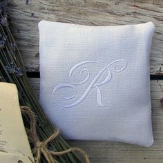 Our sachets are created in a classic sense of style using vintage and antique French linen sheets and we monogram the initials in timeless white thread. We fill them with lovely scented lavender.   They are as beautiful as they are useful. These precious gifts are available to be custom ordered. Every sachet is a one and only because they are all made from vintage fabrics.