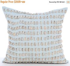 15% HOLIDAY SALE Light Blue Pillow Cases  Square by TheHomeCentric