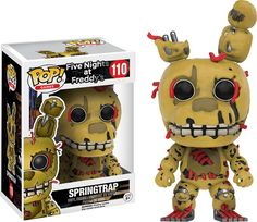 Games - Five Nights At Freddy - Springtrap GITD as a stylized POP vinyl from Funko! Figure stands 3 inches and comes in a window display box. Freddy Plush, Freddy Toys, Dark Pop, Funko Pop Dolls, Pop Toys, Pop Vinyl Figures, Five Nights At Freddy's, Funko Pop Vinyl, Action Figures