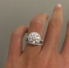 Victor Canera: Emilya Halo ring...3.075 carats. So beautiful