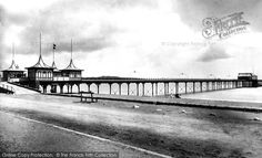 Paignton, The Pier Paignton pier, one of the oldest in Britain, strides 800 feet out to sea; we see it here in all its Victorian finery. Out To Sea, Great British, Devon, Archaeology, Britain, Old Things, Bottles, England, Victorian