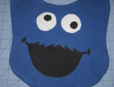 Cookie Monster Baby Bib Made to Order by AiTenshi on Etsy, $10.00