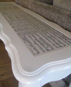 Sheet Music Sofa Table
