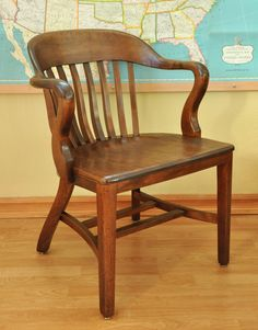 DSC 0013Vintage Bankers Chair  Library Chair  Boling Chair by 9LivesDecor  . Antique Library Armchairs. Home Design Ideas