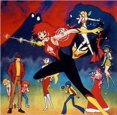 """Cutey Honey,"" Original 1970s TV Anime Series, October 1973 - March 1974, Dynamic Planning & Toei Animation. #CutieHoney #CuteyHoney"