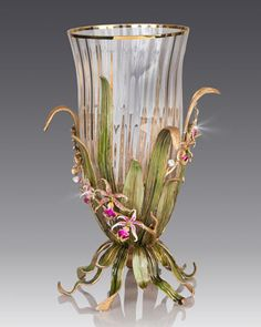 Large Orchid Vase by Jay Strongwater at Neiman Marcus.