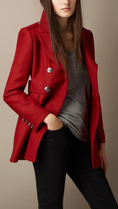 Double Wool Twill Coat | Burberry