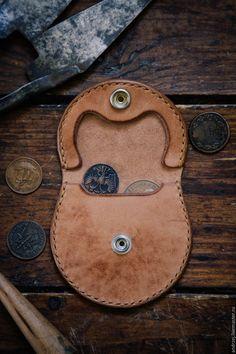 Купить Монетница ручной работы - аксессуары, Аксессуары handmade, монетница, монетница из кожи, бежевый, однотонный