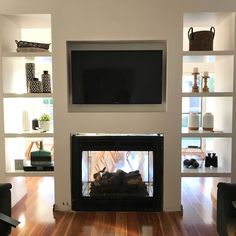 Surprising Tips: Edwardian Fireplace Surround fireplace built ins arched.Large Victorian Fireplace fireplace built ins two story.Fireplace With Tv Vaulted Ceiling. Black Fireplace Mantels, Fireplace Mantel Surrounds, Painted Brick Fireplaces, Tall Fireplace, Shiplap Fireplace, Concrete Fireplace, Home Fireplace, Fireplace Remodel, Living Room With Fireplace