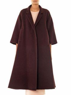 Textured wool swing coat | Rochas | MATCHESFASHION