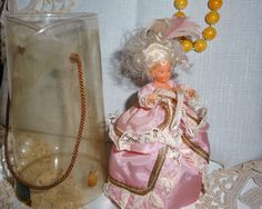 Collectible souvenir doll stunning French Louis style smaller version of the collectible dolls in box