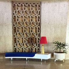 The original lobby of Hotel Riviera Havana built in 1957 by architect Igor Polevitzky on the Malecon.