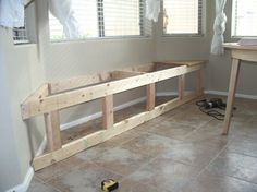 structure for a window seat for bay window (no damage to floors)