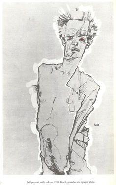 Egon Schiele, Self Portrait ✖️More Pins Like This One At FOSTERGINGER @ Pinterest ✖️Fosterginger.Pinterest.Com.✖️No Pin Limits✖️