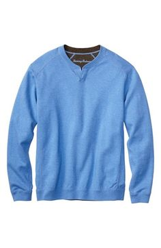Tommy Bahama 'Flip Side Abaco' Reversible Twill Quarter Zip Pullover (Big & Tall)