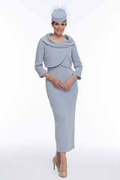 Mother of the Bride/Groom - Silk Dress and Jacket - Joyce Young Collections By Storm Mother Of Groom Outfits, Mother Of The Bride Fashion, Mother Of The Bride Suits, Elegant Outfit, Elegant Dresses, Joyce Young, Older Bride, Royal Dresses, Jacket Dress