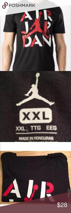 Nike Air Jordan Men's Tee,black/red/white, 2XL,NEW Cool, classic & sharp Jordan tee! Brand new, with tags. Nike Shirts Tees - Short Sleeve