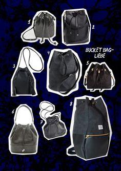 Bucket Bags sind der perfekte Begleiter für den Herbst! Eine Auswahl an Fair…