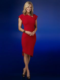Lara Spencer..Deltas look good in any color but it's something about wearing red!