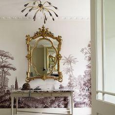 Scenes Siciliennes Zuber Wallpaper, Hallway Wallpaper, Of Wallpaper, Scenic Wallpaper, Wallpaper Ideas, Hallway Inspiration, Dining Room Inspiration, Interior Design Inspiration, Design Ideas
