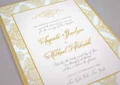 Blush and Gold Wedding Invitations Blush and by WhimsyBDesigns