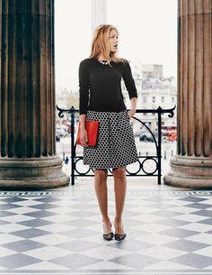Jersey Jacquard Skirt