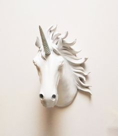 Unicorn Head, Faux Taxidermy, Unicorn, Faux Taxidermied, White Unicorn Head, Horse Head, Unicorn Head Australia, Unicorns, Hodi Home Decor