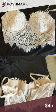 Beutiful bra or crop top  Brand new. True to size . Great with skirt . Fit right and very sexy Victoria's Secret Intimates & Sleepwear Bras