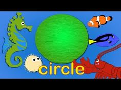 Learn shapes under the sea for kids & toddlers | Pre-school toddler & kids fun learning - YouTube