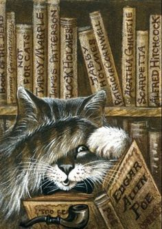 Mistery Library by Irina Garmashova-Cawton